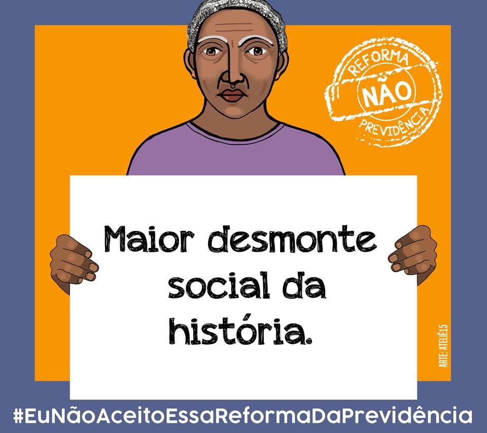 """14d2d687 Éric Gil, economista e mestre em Ciência Política pela Universidade Federal  do Paraná, diz: """"É urgente o combate a esta reforma previdenciária""""."""